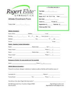 Enrollment Form 2017